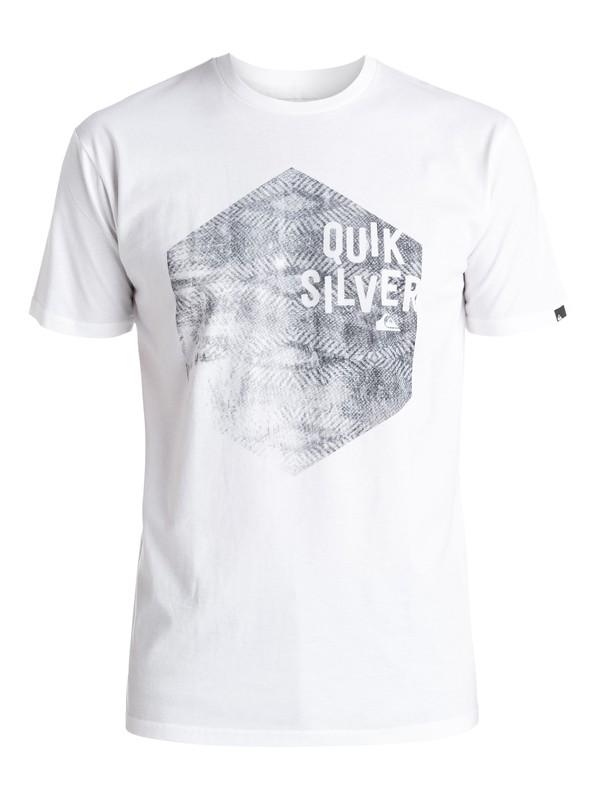 0 Classic Jumbled Hex - Tee-Shirt Blanc EQYZT03915 Quiksilver