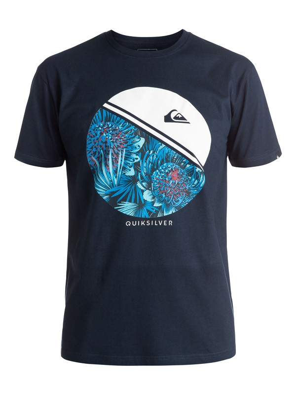 0 Classic Free Wheelin - Tee-Shirt Bleu EQYZT03923 Quiksilver