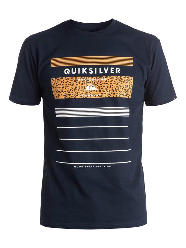 0 Classic Stringer - Tee-Shirt Bleu EQYZT03924 Quiksilver