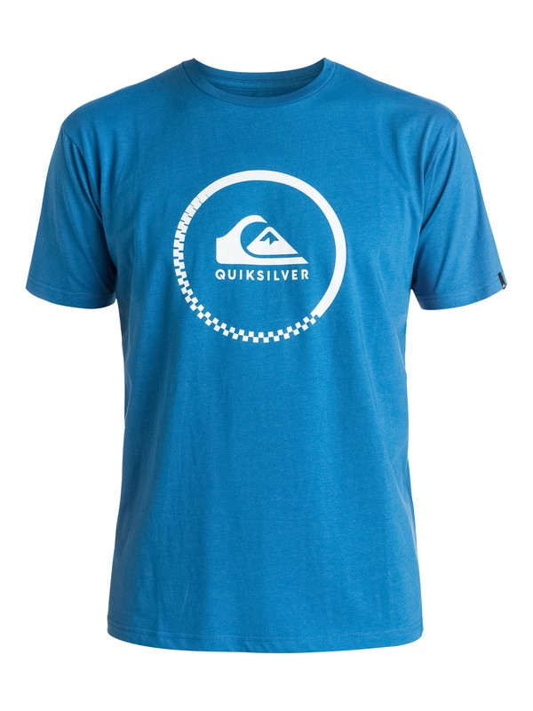 0 Classic Active Logo - Tee-Shirt Bleu EQYZT03925 Quiksilver