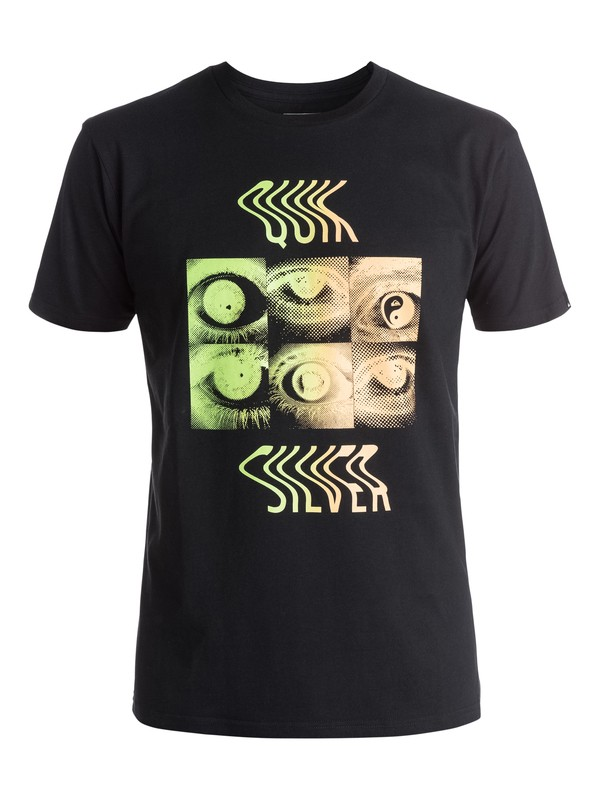 0 Classic Fool Retina - Tee-Shirt Noir EQYZT03929 Quiksilver