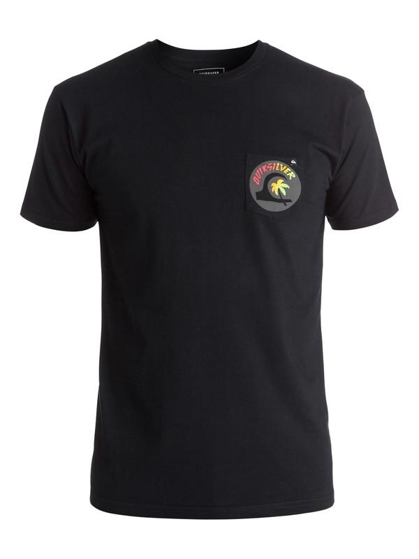 0 Classic Hot Spot - Tee-Shirt Noir EQYZT03930 Quiksilver
