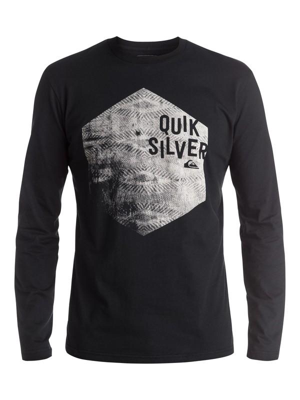 0 Classic Jumbled Hex - Tee-Shirt à manches longues Noir EQYZT03936 Quiksilver