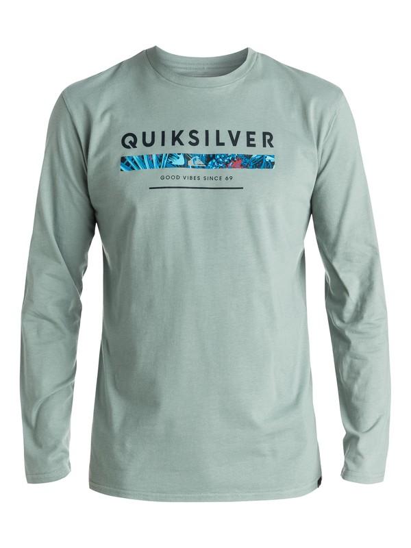 0 Classic Under Score - Tee-Shirt à manches longues Vert EQYZT03937 Quiksilver