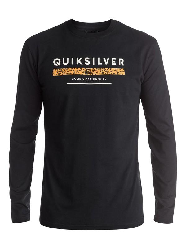 0 Classic Under Score - Tee-Shirt à manches longues Noir EQYZT03937 Quiksilver