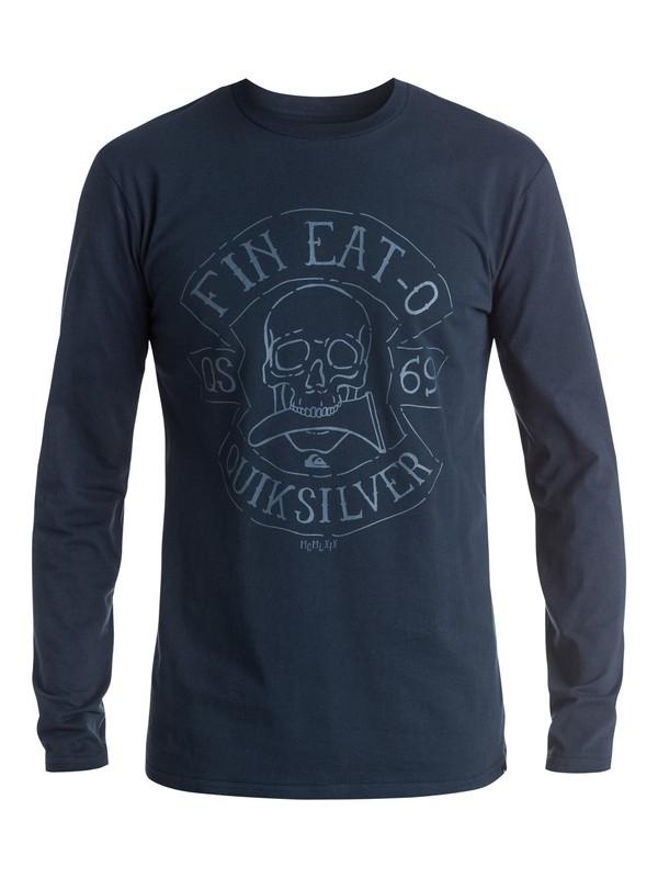 0 Classic Fin Eat - Tee-Shirt à manches longues Bleu EQYZT03938 Quiksilver