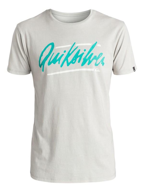 0 Specialty Loose Script - Tee-Shirt Gris EQYZT03941 Quiksilver