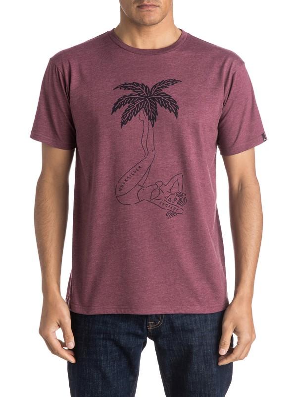 0 Heather Wet Palms - Tee-Shirt Violet EQYZT03950 Quiksilver