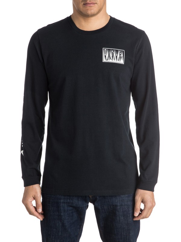 0 PM Afro Logo Long Sleeve Tee  EQYZT03952 Quiksilver