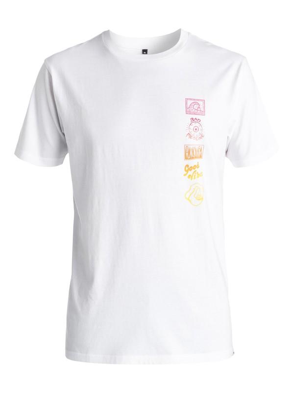0 AM Side Track - Tee-Shirt Blanc EQYZT03966 Quiksilver
