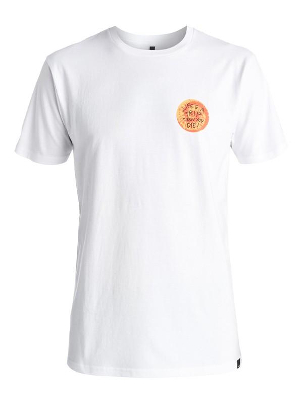 0 AM Life'S A Trip - Tee-Shirt Blanc EQYZT03967 Quiksilver