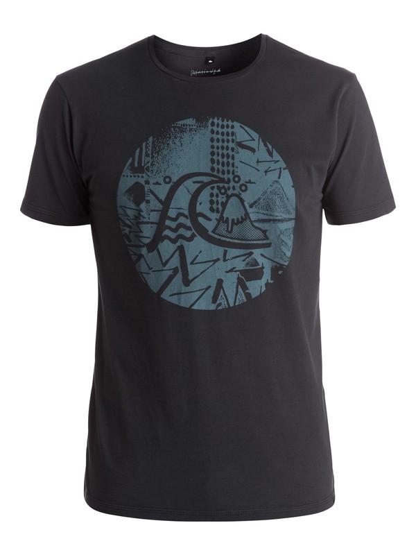 0 Labyrinth Logo - Tee-Shirt Noir EQYZT03973 Quiksilver