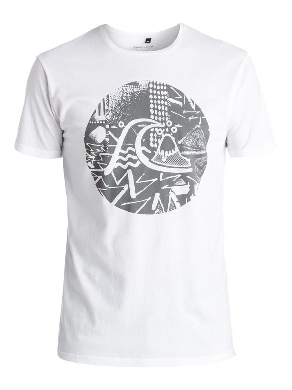 0 Labyrinth Logo - Tee-Shirt Blanc EQYZT03973 Quiksilver