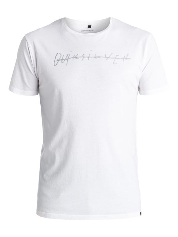 0 Logo Quik Signature - Tee-Shirt Blanc EQYZT03974 Quiksilver