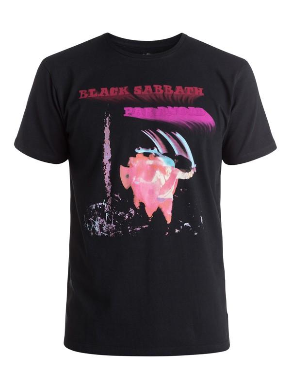 0 Quiksilver Music Collab Black Sabbath Paranoid - Tee-shirt Noir EQYZT04131 Quiksilver
