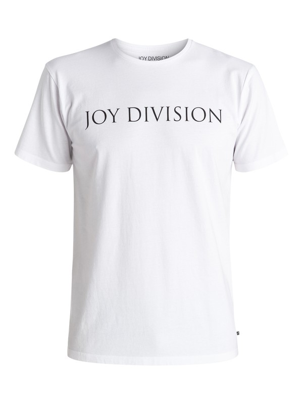 0 Quiksilver Music Collab Joy Division Logo - Tee-shirt Blanc EQYZT04134 Quiksilver