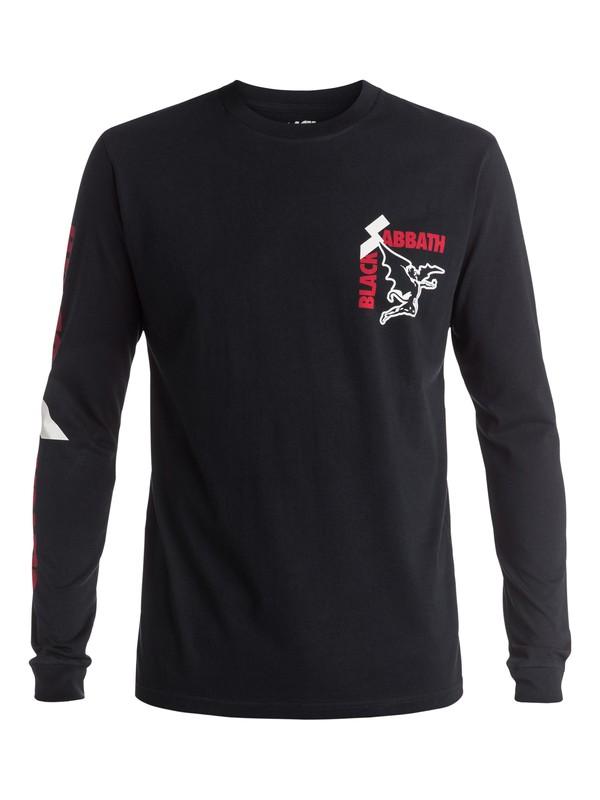 0 Quiksilver Music Collab Black Sabbath Sold Our Soul - Tee-shirt à manches longues Noir EQYZT04136 Quiksilver