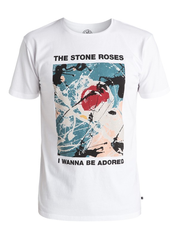 0 Stone Roses Adored - Tee-Shirt Blanc EQYZT04207 Quiksilver
