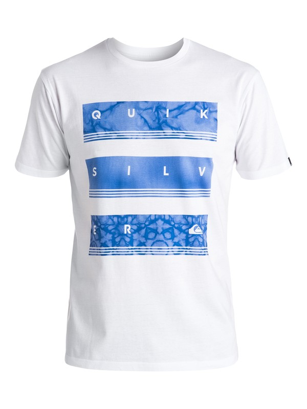 0 Classic Hyper Stack - Tee-Shirt Blanc EQYZT04259 Quiksilver