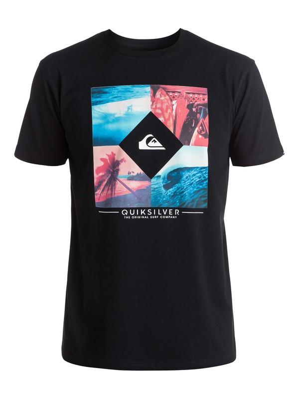 0 Classic Bright Diamond - Tee-Shirt Noir EQYZT04260 Quiksilver
