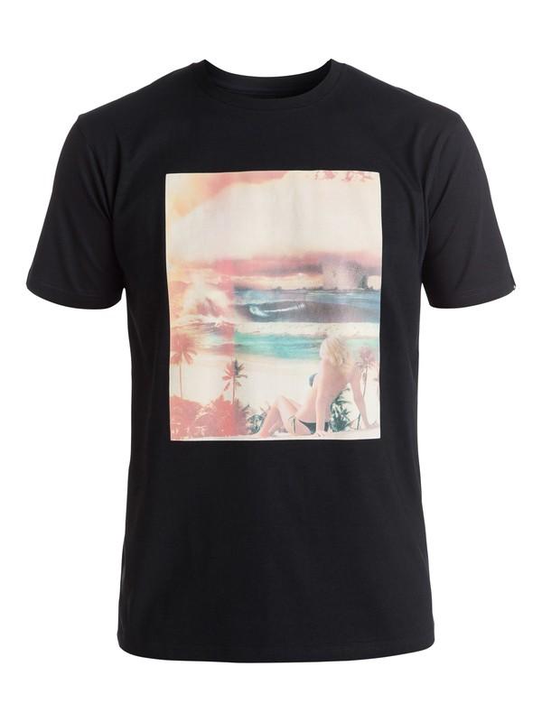 0 Classic World War Pipe - Tee-Shirt Noir EQYZT04261 Quiksilver