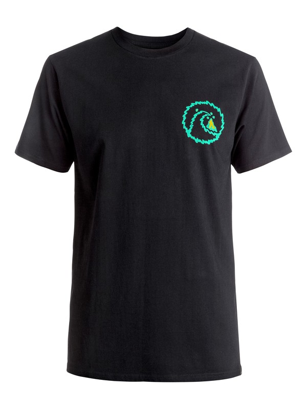 0 Melt Out - Tee-Shirt Noir EQYZT04268 Quiksilver
