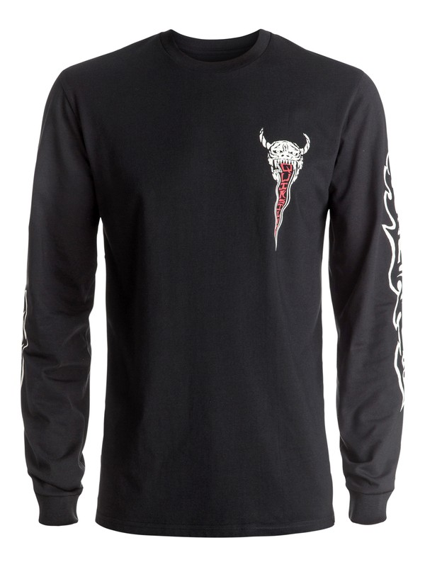 0 Pm Burn Out Long Sleeve Tee  EQYZT04272 Quiksilver