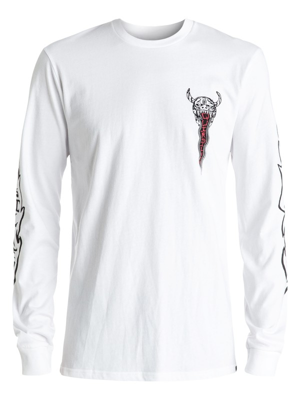 0 Pm Burn Out Long Sleeve Tee White EQYZT04272 Quiksilver