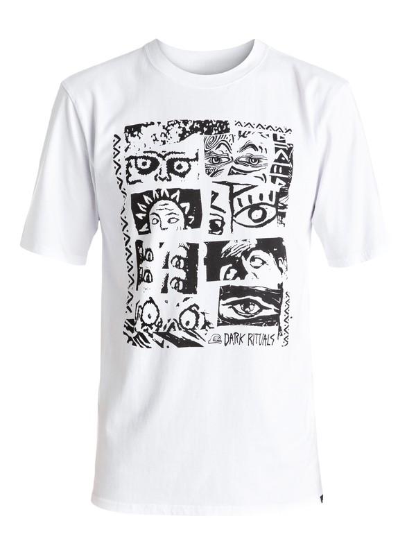 0 Look - Tee-Shirt Blanc EQYZT04274 Quiksilver