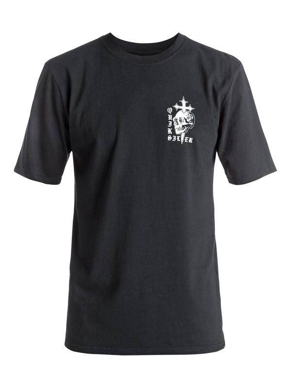 0 Skull Cross - Tee-Shirt Noir EQYZT04277 Quiksilver
