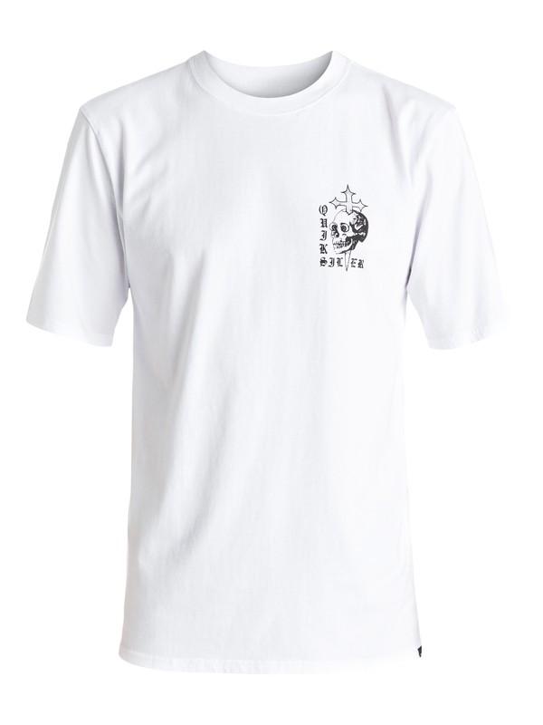 0 Skull Cross - Tee-Shirt Blanc EQYZT04277 Quiksilver