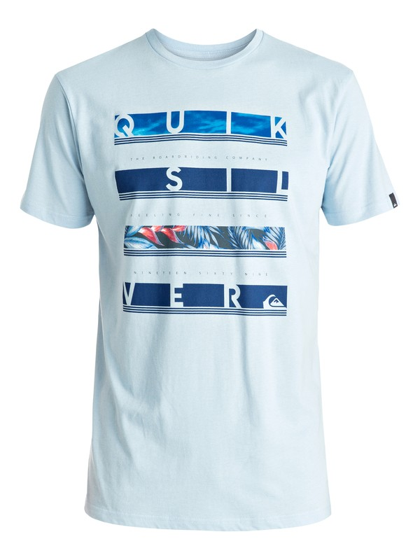 0 Classic Read Between - Tee-Shirt Bleu EQYZT04280 Quiksilver