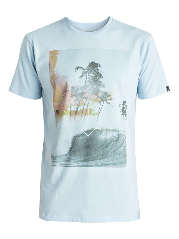 0 Classic Wave Thunder - Tee-Shirt Bleu EQYZT04283 Quiksilver