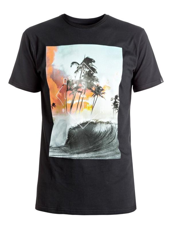 0 Classic Wave Thunder - Tee-Shirt Noir EQYZT04283 Quiksilver