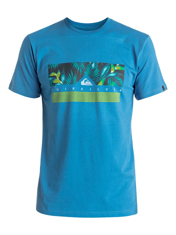 0 Classic Jungle Box - Tee-Shirt Bleu EQYZT04284 Quiksilver