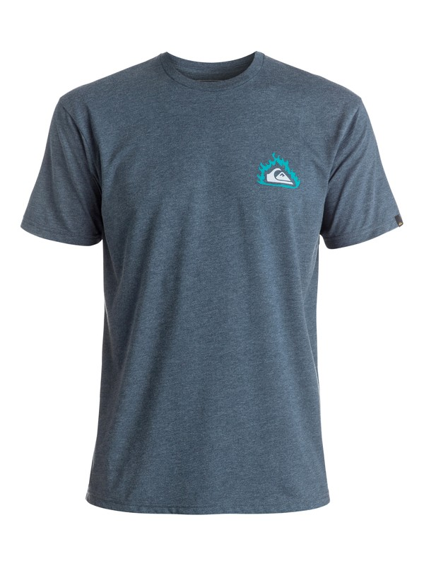 0 Heather Hell Tentation - Tee-Shirt Bleu EQYZT04286 Quiksilver