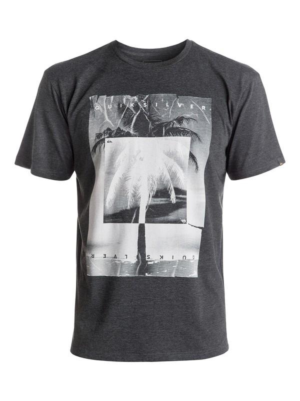 0 Heather Inverted - Tee-Shirt Noir EQYZT04287 Quiksilver