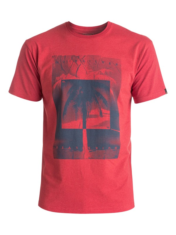 0 Heather Inverted - Tee-Shirt Rouge EQYZT04287 Quiksilver