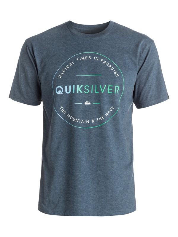 0 Heather Free Zone - Tee-Shirt Bleu EQYZT04288 Quiksilver
