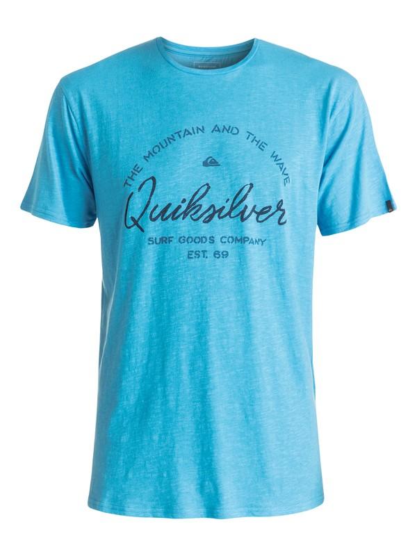 0 Slub Hero Bay - Tee-Shirt Bleu EQYZT04290 Quiksilver