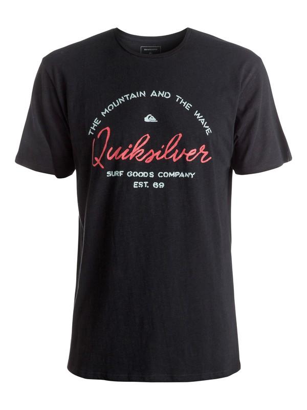 0 Slub Hero Bay - Tee-Shirt Noir EQYZT04290 Quiksilver