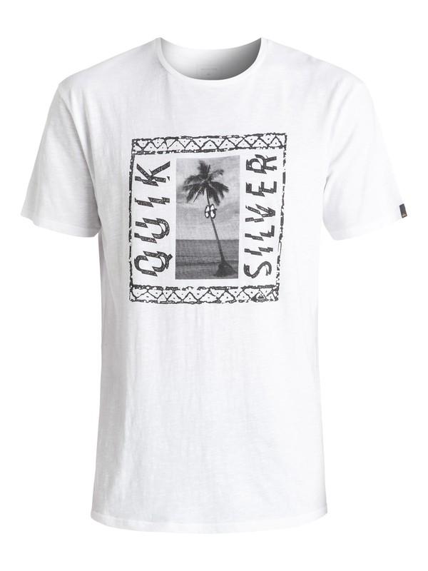0 Slub Jazzy - Tee-Shirt Blanc EQYZT04291 Quiksilver