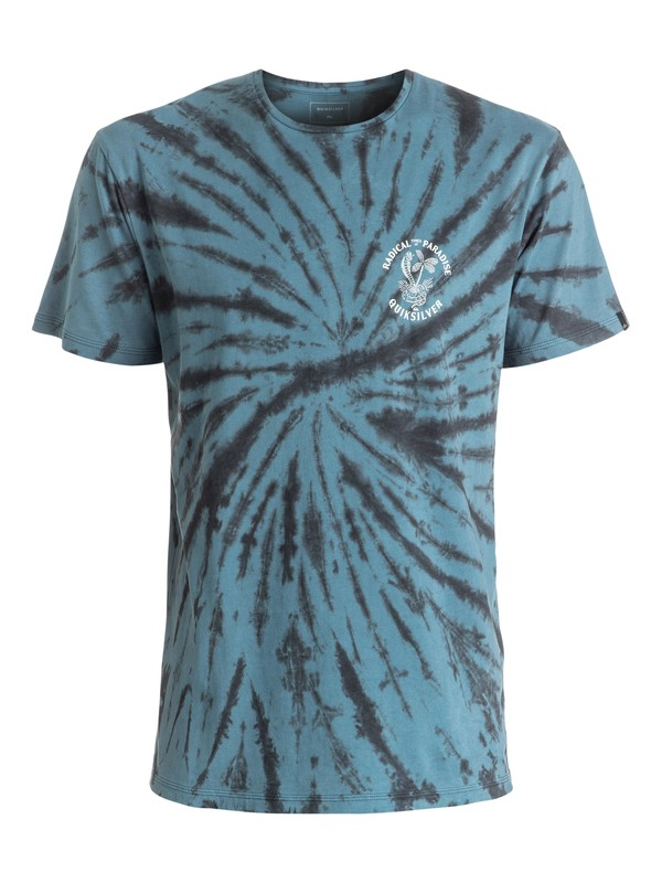 0 Off The Block Spiral - Tee-Shirt Bleu EQYZT04293 Quiksilver