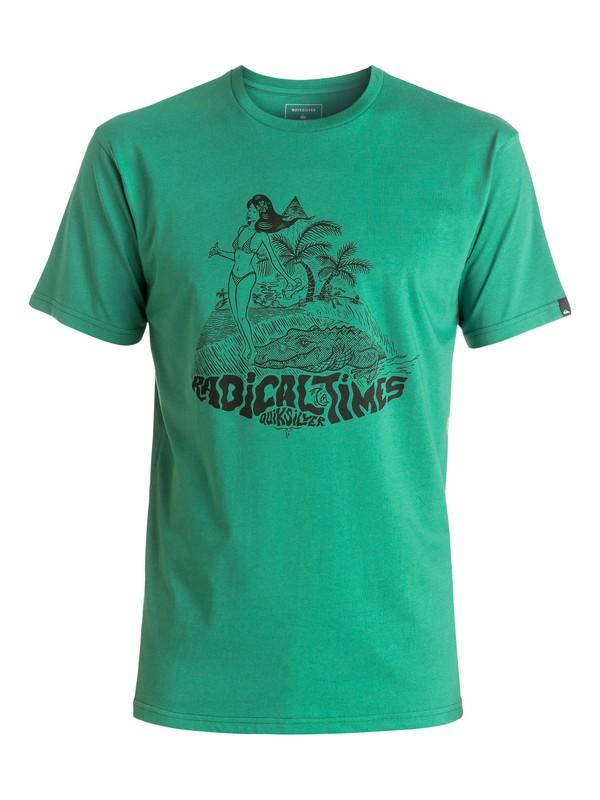 0 Classic Crocoride - Tee-Shirt Vert EQYZT04301 Quiksilver