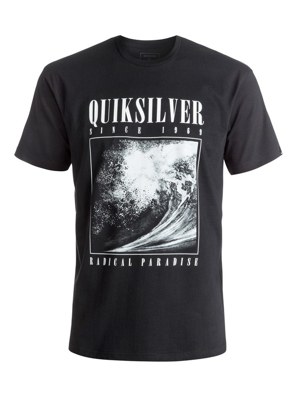 0 Classic Both Sides - Tee-Shirt Noir EQYZT04303 Quiksilver