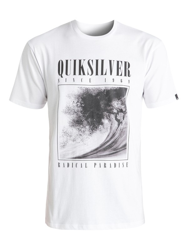 0 Classic Both Sides - Tee-Shirt Blanc EQYZT04303 Quiksilver