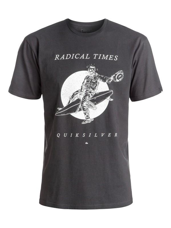 0 Classic Space Cowboy - Tee-Shirt Noir EQYZT04308 Quiksilver