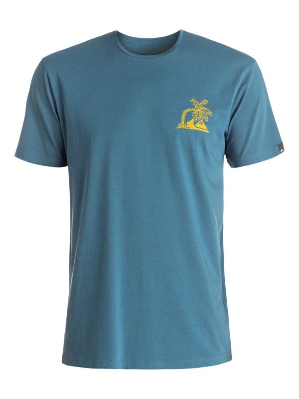0 Garment Dye Never Dies - Tee-Shirt Bleu EQYZT04322 Quiksilver