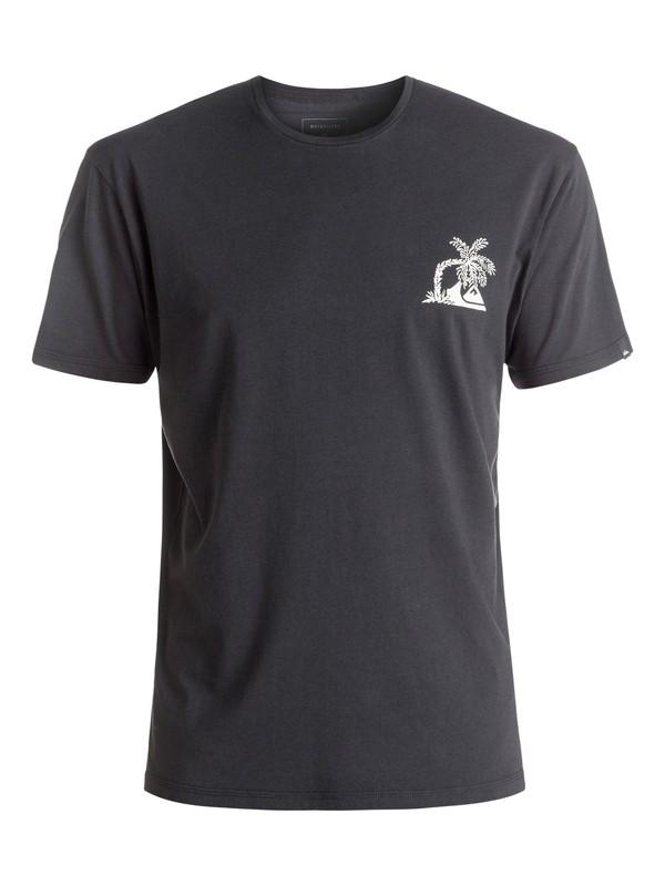 0 Garment Dye Never Dies - Tee-Shirt Noir EQYZT04322 Quiksilver