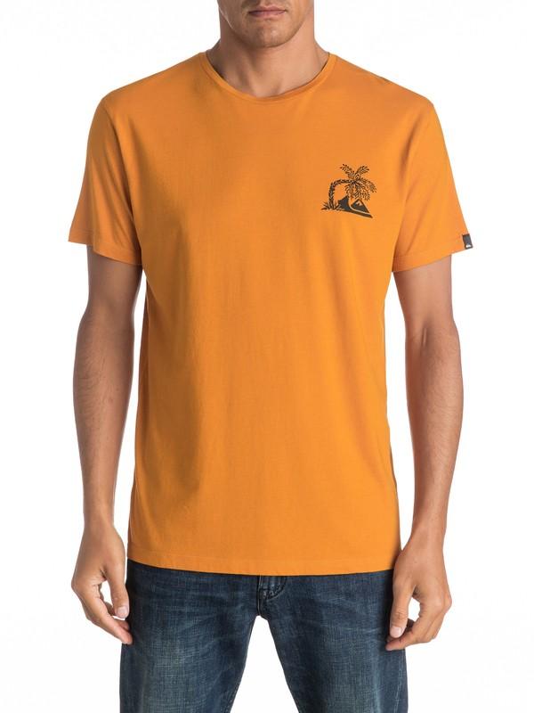 0 Garment Dye Never Dies - Tee-Shirt Jaune EQYZT04322 Quiksilver